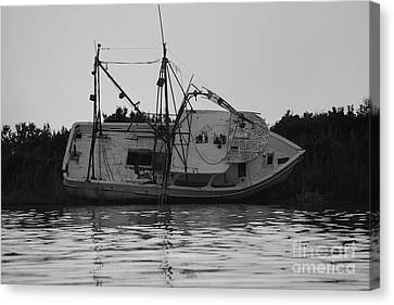 Canvas Print featuring the photograph Hurricane Boat by Luana K Perez