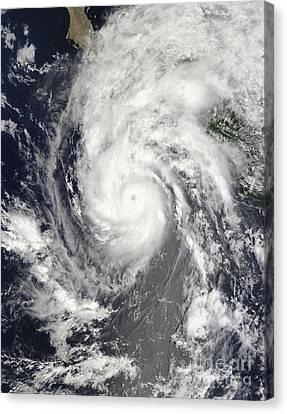 Hurricane Jimena Approaching Baja Canvas Print