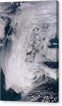 Hurricane Sandy Along The Northeastern Canvas Print by Stocktrek Images