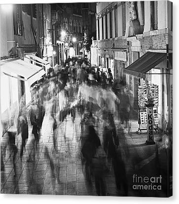 Hustle And Bustle Canvas Print by Heiko Koehrer-Wagner