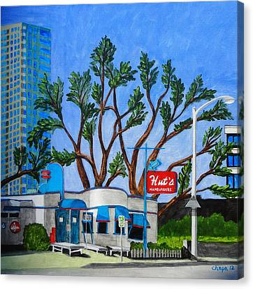 Hut's Hamburgers Austin Texas. 2012 Canvas Print by Manny Chapa