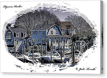 Canvas Print featuring the photograph Hyannis Harbor Greetings by Jack Torcello