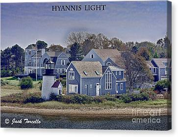 Canvas Print featuring the photograph Hyannis Light by Jack Torcello