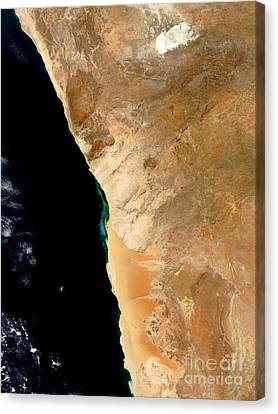 Hydrogen Sulfide Eruption Off Namibia Canvas Print by Nasa