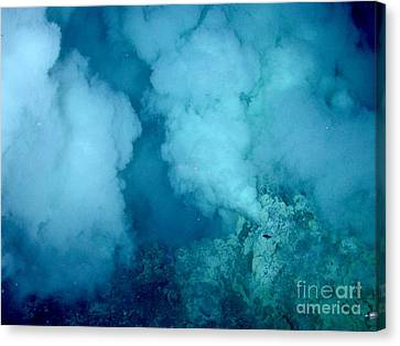 Hydrothermal Smoker Vent Canvas Print by Science Source
