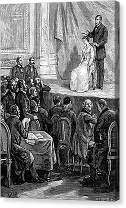 Psychiatric Canvas Print - Hypnosis Demonstration, 19th Century by