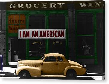 I Am An American Canvas Print by Andrew Fare