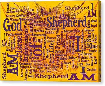 I Am Shepherd 2 Canvas Print by Angelina Vick