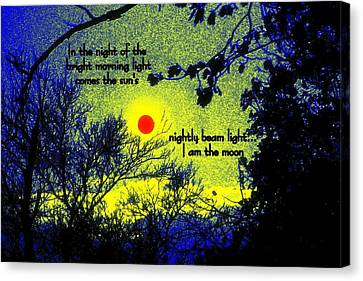 I Am The Moon Canvas Print
