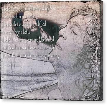 I Believe _ John Lennon Canvas Print by Yvon van der Wijk