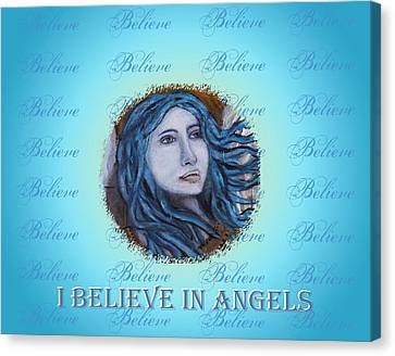 I Believe In Angels Canvas Print by The Art With A Heart By Charlotte Phillips