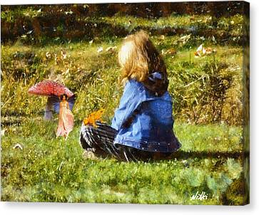 Innocence Canvas Print - I Believe In Fairies by Nikki Marie Smith