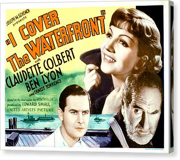 I Cover The Waterfront, Ben Lyon Canvas Print