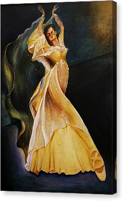 Canvas Print featuring the painting I Feel Pretty by Itzhak Richter