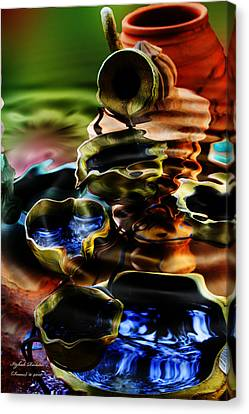 Canvas Print featuring the photograph I Flow by Itzhak Richter