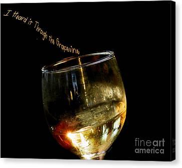 I Heard It Through The Grapevine Canvas Print by Linda Galok