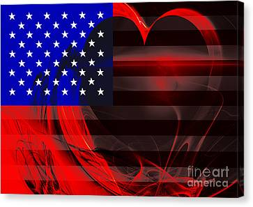 I Love America Canvas Print by Wingsdomain Art and Photography
