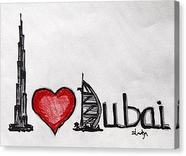 I Love Dubai Canvas Print