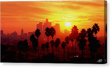 I Love L.a. Canvas Print by Steve Huang