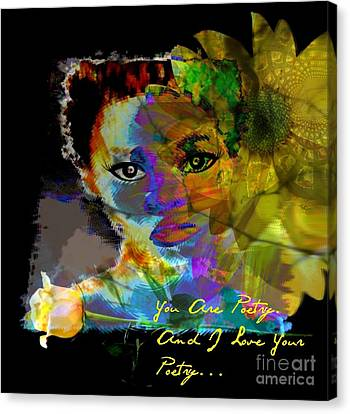 I Love Your Poetry Canvas Print by Fania Simon