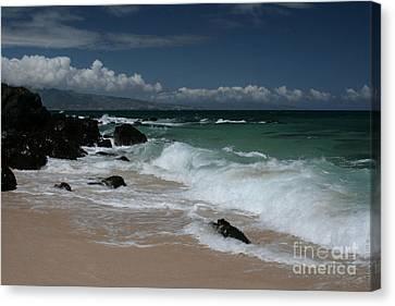 i miha kai i ka aina Hookipa Beach Maui North Shore Hawaii Canvas Print by Sharon Mau
