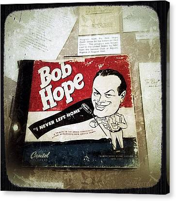 i Never Left Home By Bob Hope: His Canvas Print by Natasha Marco