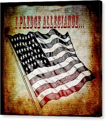 I Pledge Allegiance Canvas Print by Angelina Vick