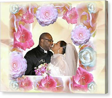 I Pronounce You Husband And Wife Canvas Print by Terry Wallace