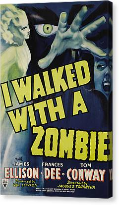I Walked With A Zombie, 1943 Canvas Print