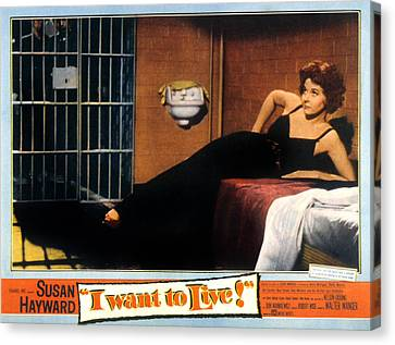 I Want To Live, Susan Hayward, 1958 Canvas Print by Everett