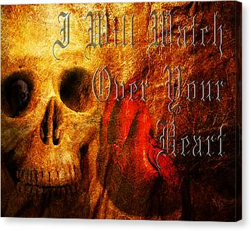 I Will Watch Over Your Heart Canvas Print by Vic Weiford