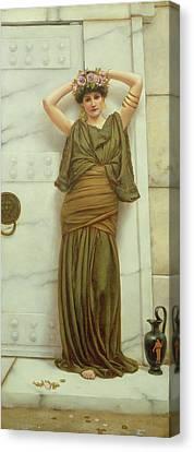 Ianthe Canvas Print by John William Godward