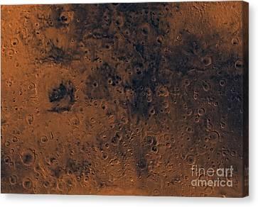 Iapygia Region Of Mars Canvas Print by Stocktrek Images