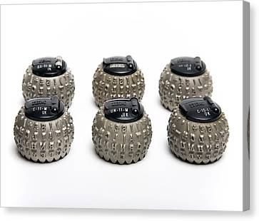 Ibm Selectric Typeballs, 1970s Canvas Print by Victor De Schwanberg