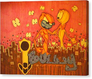 iBULLY Completed Canvas Print by Mr Ambition