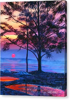 Ice Blue Lake Canvas Print by David Lloyd Glover
