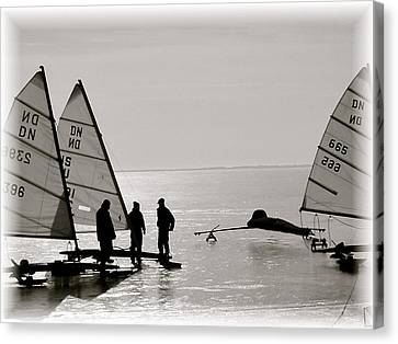 Ice Boats Canvas Print