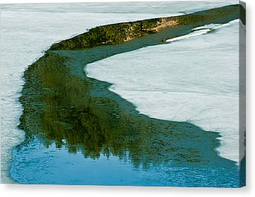 Ice Borders Canvas Print by Colleen Coccia