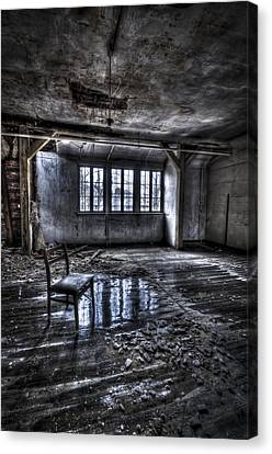 Ice Chair Canvas Print by Nathan Wright
