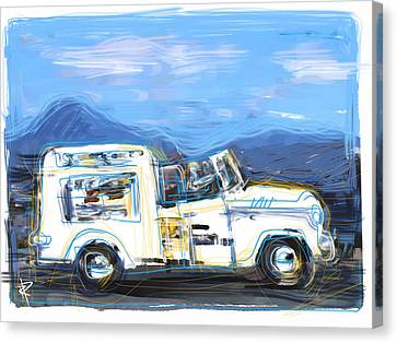 Ice Cream Truck Canvas Print by Russell Pierce