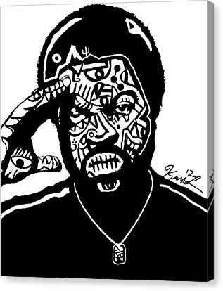 Ice Cube By Kamoni-khem Canvas Print by Kamoni Khem