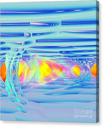 Ice Palace Sunrise Canvas Print