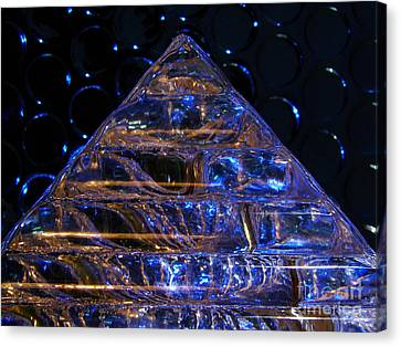 Ice Pyramid Canvas Print by Mark Holbrook