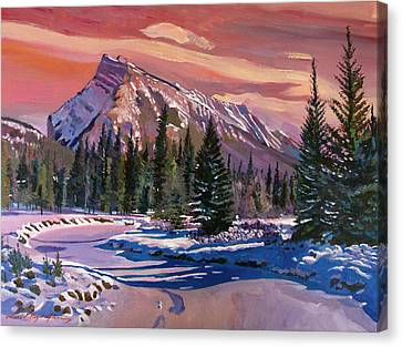 Ice River Sunrise Canvas Print by David Lloyd Glover