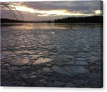 Ice Sea After Storm Dagmar Canvas Print by Dagmar Batyahav
