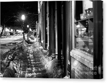 Ice Walk Canvas Print by Randall  Cogle