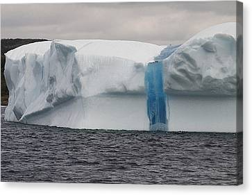 Canvas Print featuring the photograph Iceberg by Eunice Gibb