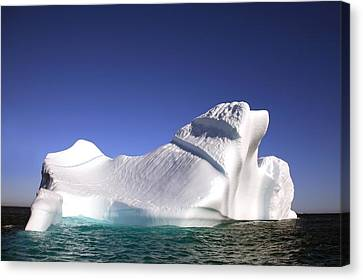 Iceberg In The Canadian Arctic Canvas Print by Richard Wear