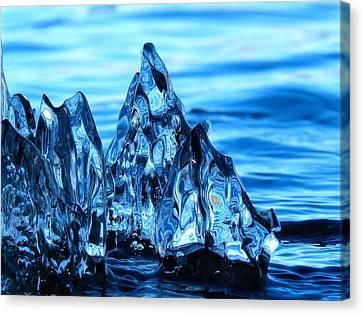Iceberg River Canvas Print
