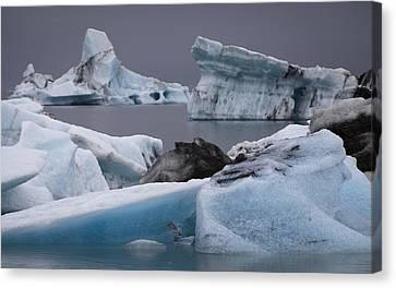 Icebergs Canvas Print by Arnar B Gudjonsson